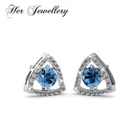 Her Jewellery 4 color crystal Triangle earrings Made with crystals from Swarovski, stud earring 2018 jewelry HE0262