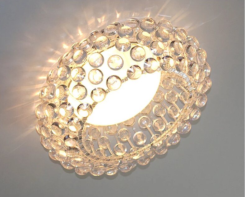Moderna sala de estar acrílico RS7 bombilla lámparas colgantes comedor Foscarini Caboche Dia35/50/65 CM claro lámpara colgante dorada - 4