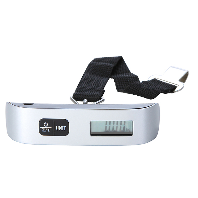 50kg*10g Pocket Electronic Portable Scale Hanging Fish Digital Scale Luggage Travel Bag Weight scale Balance scales W/ Strap 2