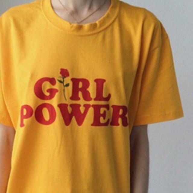 2017 Summer Printed Letter Turbltr Shirts Cotton O Neck Black White Plus Size T shirt Women T-shirt Female Top Tees Girl Power