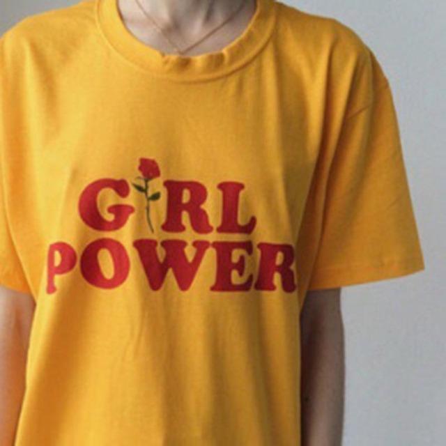 2017 Verão Letra Impressa Turbltr Camisas de Algodão O Pescoço Preto Branco plus Size T shirt Mulheres T-shirt Feminina Top Tees Girl Power