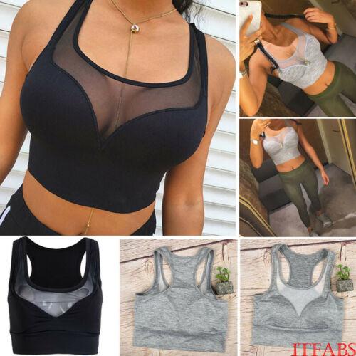 Womens Large Size Wireless Thickening Bra Gym Fitness Sports Running US