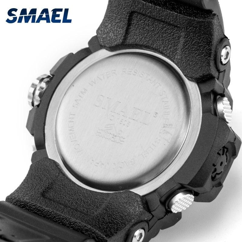 Women Military Watch Clock 50m Waterproof Wristwatch LED Quartz Sport Watch Woman Relogio Feminino SMAEL S Shock Watch Women