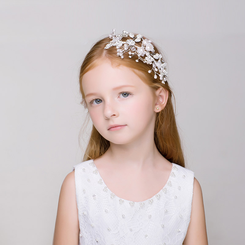 393da1a7dbee8 Simulated Pearl Headband Hair Accessories Flower Girls Wedding Headpiece  Hairband Teens Birthday Party Headdress Ornaments Gifts-in Hair Jewelry  from ...