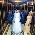 Trendy Nigerian Navy Blue Sequins Bridesmaids Dresses Long Mermaid Formal Dress To Wedding Sexy Floor Length Gowns Cheap 2015
