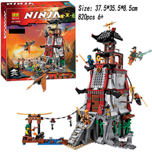 820pcs MAK LOK SI Ninjagoe Town Battle Castle Ninjagoes Bricks Toy Compatible Building Block Minifigure Legoed
