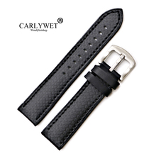 CARLYWET 20 22mm Wholesale Silicone Rubber Waterproof Replacement Straight End Wrist Watch Band Strap For Seiko Tudor Omega