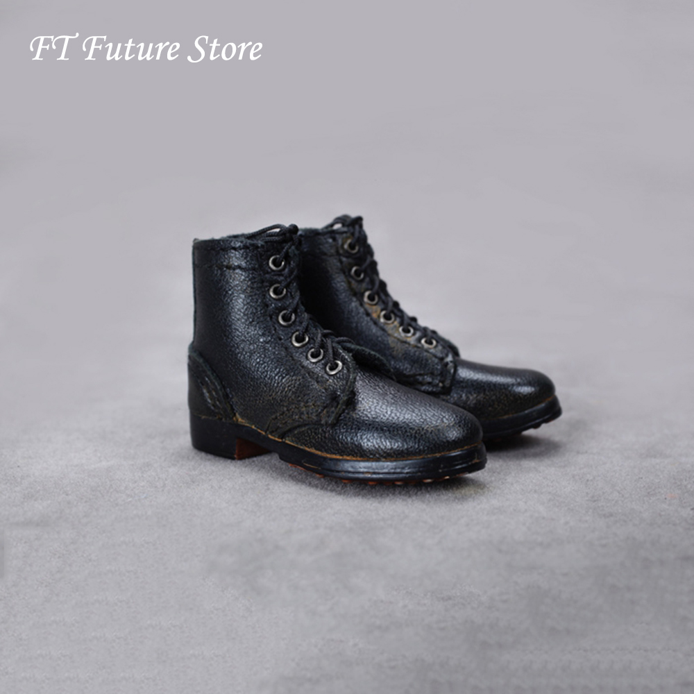 "Pair 1//6 Scale Brown Lace Up Shoes 12/"" Male Action Figure Formal Dress Accss"
