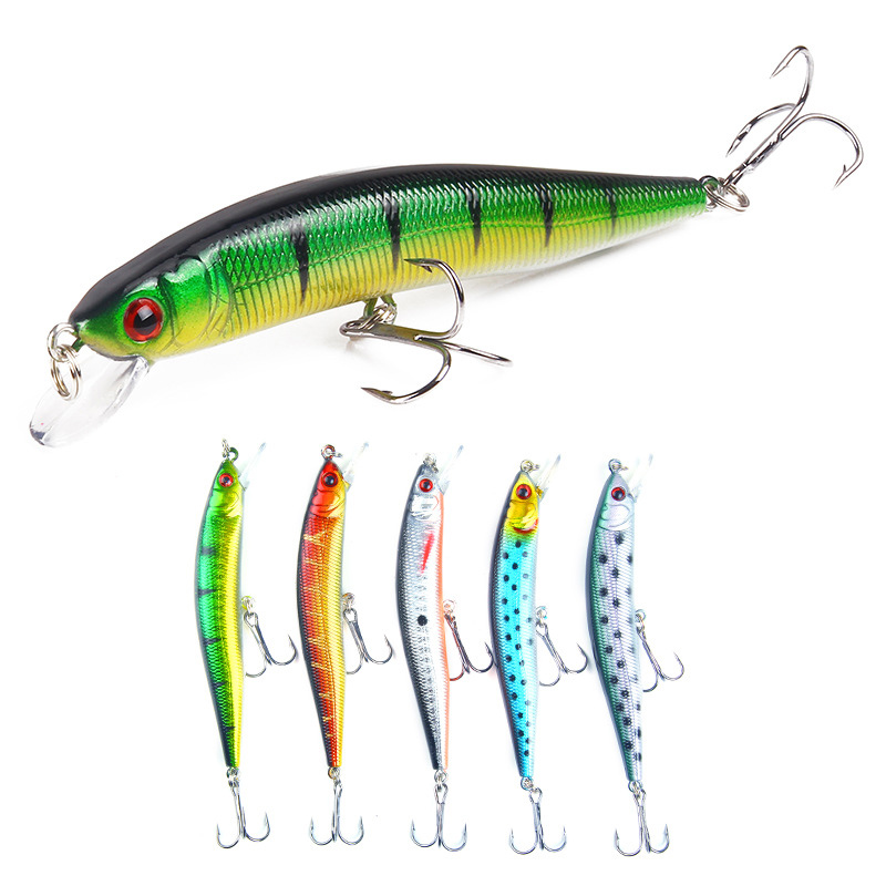 10cm 8.5g Hard Bait Minnow Fishing lures 5colors Artificial Bait 3D Eyes Lure Fishing Tackle allblue floating fishing lures shad minnow 60mm 7 3g artificial bait 2 5m plastic 3d eyes wobbler bass lure fishing tackle peche