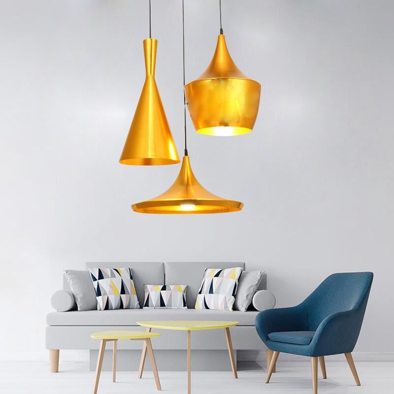 Nordic ABC Creative Chandelier Design Beat Musical Instrument Hanging Lamp The Copper Chandelier Or Any Combination Pendant Lamp
