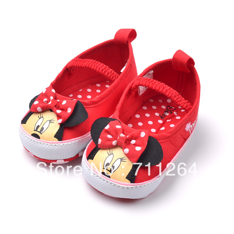 6b2d855487ae NewBaby Girls Infant Toddler Dots Minnie Mouse Crib Shoes Size for  S(0-6Month)