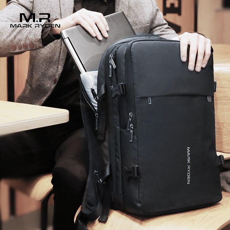 Mark ryden homem mochila caber 17 polegada portátil usb recarga multi-camada espaço viagem masculino saco anti-ladrão mochila