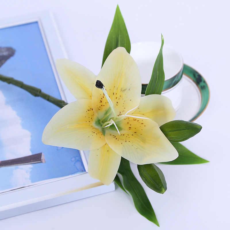 Single Buatan Lily Kecil Tiger Orchid Enam Kelopak Kain Simulasi Bunga Pernikahan Keluarga Hotel Dekorasi