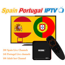 IPTV Spain M3U IPTV Portugal TV Box M8S PROW ATV Android 7.1 Amlogic S905W 1 year IPTV Spain Portugal Subscription IPTV Box(China)