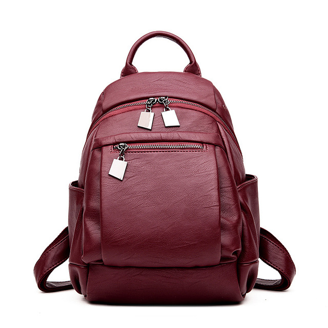 Women Leather Backpacks For Teenage Girls Fashion Backpacks High ...