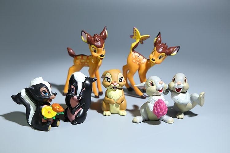 Disney Classic Animal Bambi Figure Dolls Set Home Decoration For Girls Boys Children Gifts Kids Toys 7pcs/Set