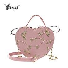joker leisure floral embroidery lady crossbody bag women handbags purse shoulder bag heart shaped chain small girl messenger bag novelty flamingo shaped crossbody bag