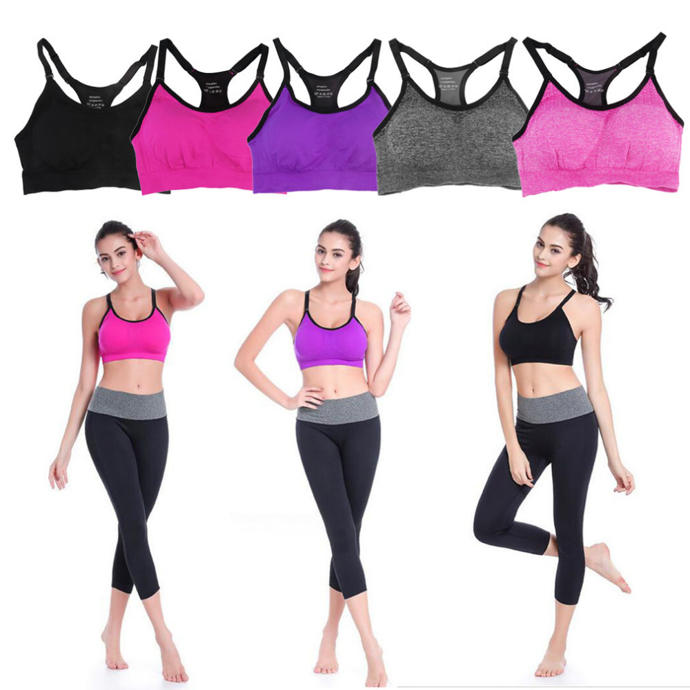 Womens Sports Bra Breathable Mesh Shockproof Professional Anti Vibration Stylish Yoga Training Running Padded Sleep Bra Sports Bras