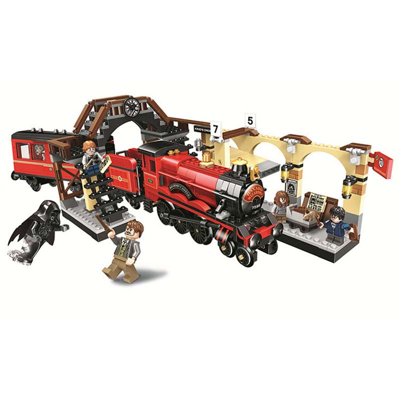 New Harry Potter Movie Hogwarts Express Train Building Kit Blocks Toys For Children Compatible With Legoings 75955