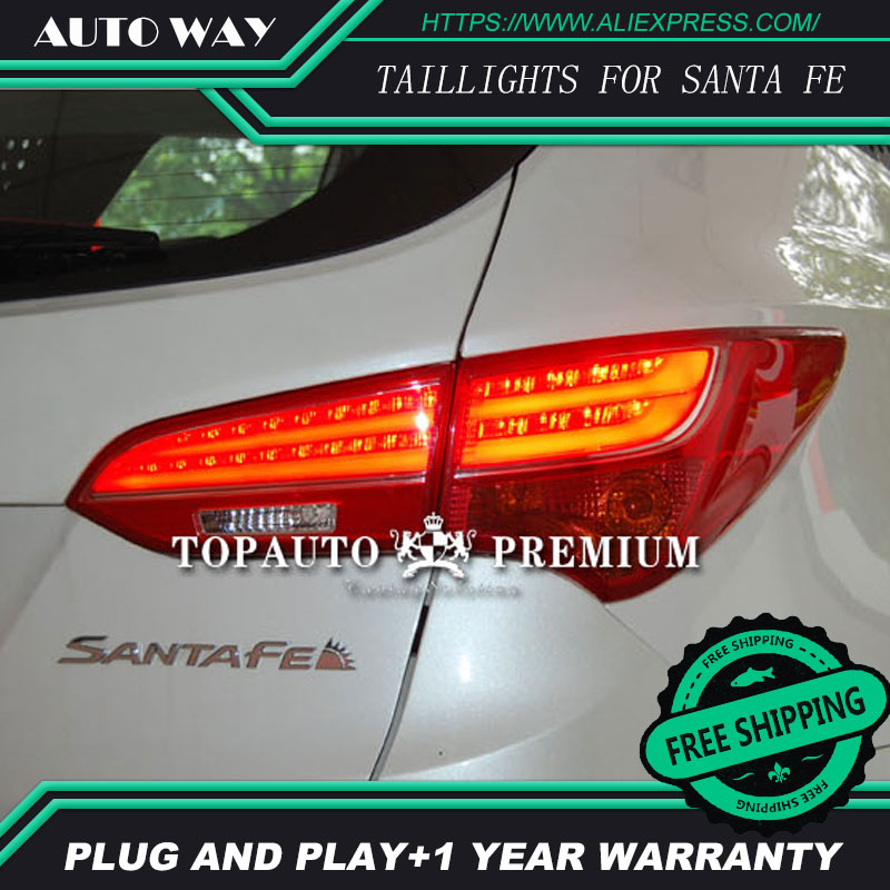 Car Styling tail light for Hyundai SantaFe Santa Fe IX45 taillights LED Tail Lamp rear trunk lamp cover drl+signal+brake+reverse one stop shopping styling for ix45 led tail lights 2014 new santa fe ix45 tail light rear lamp drl brake park signal