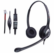 Wantek Corded Telephone Headset with Noise Canceling Mic + Quick Disconnect for Cisco 7911 7905 Avaya 1616 9620 9640 IP Phones