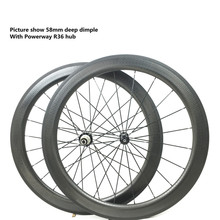 execise bike parts wholesale bicycle parts 700c dimple wheelset with powerway r49 58mm golf surface