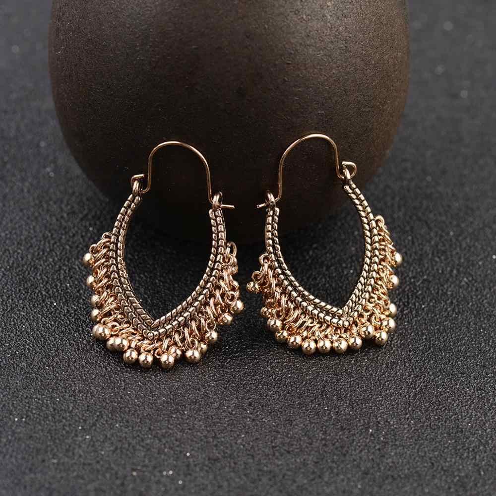 CARTER LISA 2019 bohemian geometric silver golden อินเดีย vintage dangle ต่างหูต่างหูเครื่องประดับ oorbellen