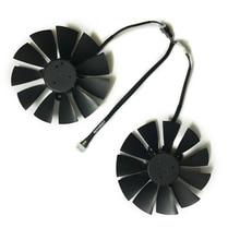 цены на Computer VGA gpu cooler fans DUAL RX580 graphics card fan for ASUS DUAL-RX580-4G/8g Video cards cooling  в интернет-магазинах