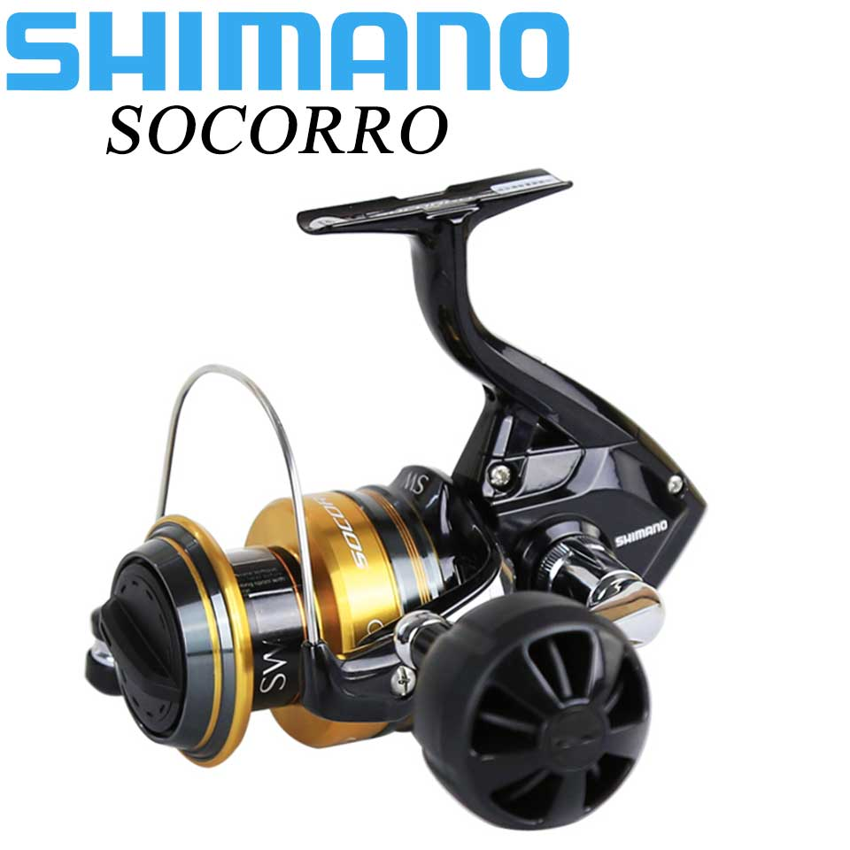 SHIMANO Saltwater Spinning reel SOCORRO SW 5000-10000 4+1BB Aluminum Spool 10-12kg Power HAGANE GEAR Sea Fishing ReelsSHIMANO Saltwater Spinning reel SOCORRO SW 5000-10000 4+1BB Aluminum Spool 10-12kg Power HAGANE GEAR Sea Fishing Reels