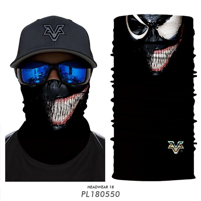 3d Gesicht Maske Bandana Deadpool Venom Magie Schal Fahrrad Motorrad Headwear Neck Gamasche Sonne Uv Schützen Winddicht Wandern Ski Maske