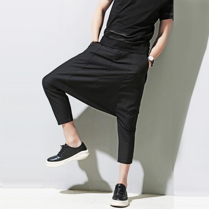 HOT 2018 printemps nouveau mode casual D été hommes pantalon Bigbang droits  zhi-long gd 7 capris lâche harem pantalon casual pantalon 8fae867f3e62