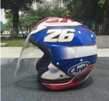 Nowy nowy kask motocyklowy kask wyścigowy off-road pół hełm kask mężczyźni i kobiety ochrona przed słońcem kask tanie i dobre opinie NYLON Half helmet SUWDT