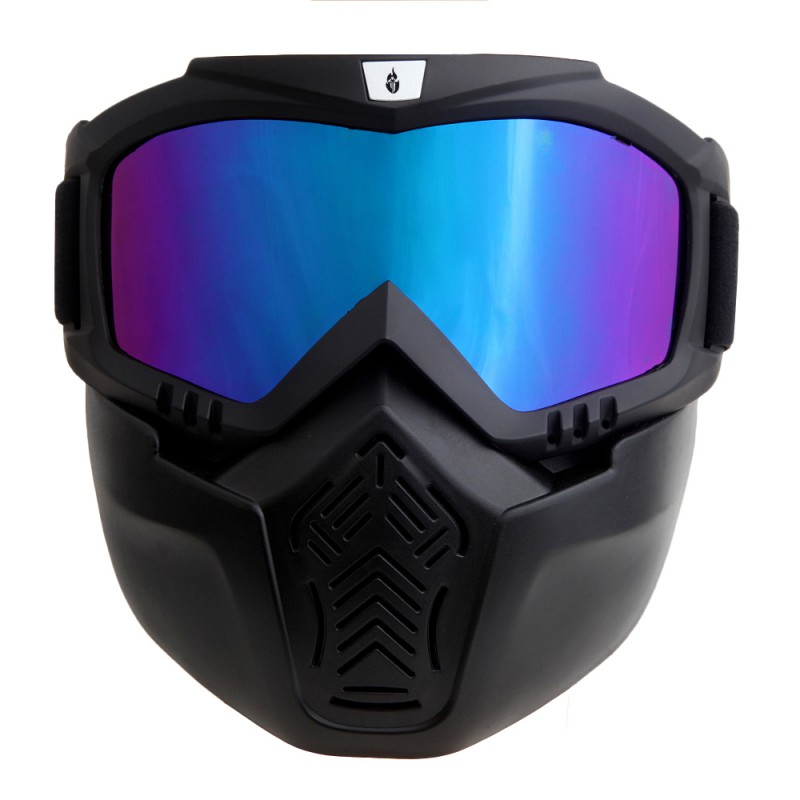 High Quality New Detachable Modular Motorcycle Riding Helmet Goggles Shield Nose Face Mask For Moto Helmets