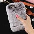 Для iPhone 7 6 6 S 6 7 6 S Плюс Роскошные Подлинная Мягкий Мех Кролика жесткий PC Задняя Крышка Крышка для iPhone 7 6 6 S 6 6 S Плюс 7 Плюс