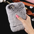 For iPhone 7 6 6S Case 6 7 6S Plus Luxury Genuine Soft Rabbit Fur Hard PC Back Cover Case for iPhone 7 6 6S 6 6S Plus 7 Plus