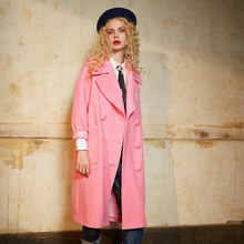 e22afa825fca9 ELF SACK Winter Women Blended Wool Coats Solid Long Womens Outerwear Coat  Double Breasted Turn Down