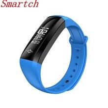 Smartch M2S smart Сердечного ритма крови Давление измеритель пульса Браслет фитнес-часы smartband для IOS Android PK fitbits ID107