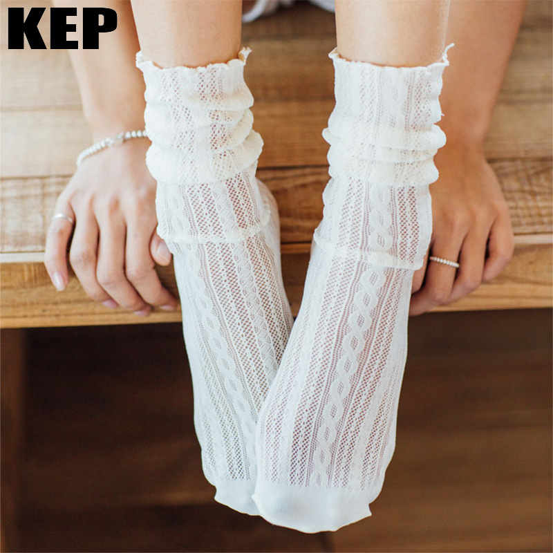 Fashion Trend <font><b>Sexy</b></font> Women <font><b>Socks</b></font> 2019 Spring New Summer Solid Hollow Out Women Soft <font><b>Cute</b></font> Long <font><b>Socks</b></font> Women Mesh Thin <font><b>Socks</b></font> Hot Sale image