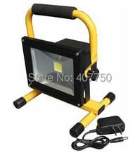 Смарт-аккумуляторная батарея питание от аккумулятора Светодиодный прожектор 20 Вт светодиодный фонарик с Автомобильное зарядное устройство ввода AC90V/265 В используется для открытый использует