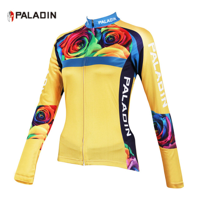 9b7901df4 PALADIN Flower Breathable Cycling Jerseys Women Quick-Dry Ropa Ciclismo Bike  Jerseys Cycling Clothing Long Sleeve Sportswear