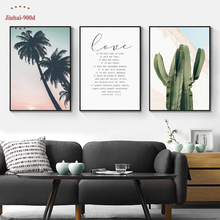 900D Posters And Prints Wall Art Canvas Painting Pictures For Living Room Nordic Poster Cactus Decoration NOR076