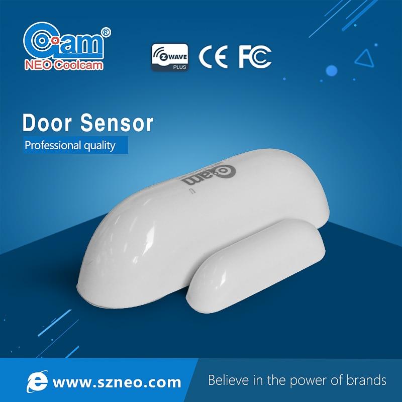 NEO COOLCAM z-wave Sensor de la ventana de la puerta Compatible con Z wave 300 Serie 500 Sensor de bloqueo magnético de la puerta alarma Smart Home Security NEO COOLCAM Z-wave Plus a casa una clave SOS y de Control remoto inteligente Sensor de automatización de Sensor