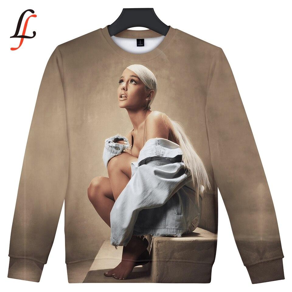 בלי כומתה סווטשירט נשים אריאנה גרנדה 3D הדפסת היפ הופ 2019 חדש אופנה נשים נים מפורסם Kpop בגדים