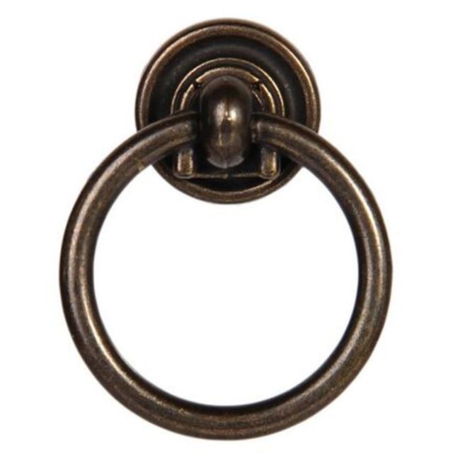 Vintage Bronze Tropfen Ringe Schubladenschrank Pulls Knöpfe Messing Antik  Kommode Küchenschrank Türgriff Retro Möbel Ring Ziehen
