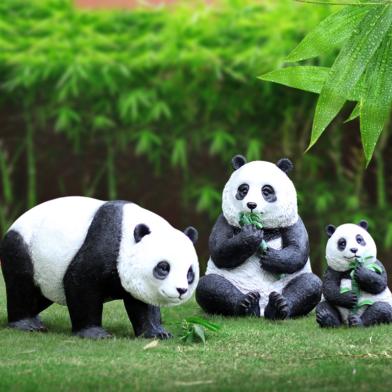 Giant panda decoration outdoor sculpture decoration garden decor outdoor and garden animal decoration