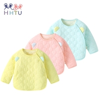 HHTU Newborn Baby Quilted Cotton Kid Coat Children Boy Girl Spring Autumn Keep Warm Long Sleeve