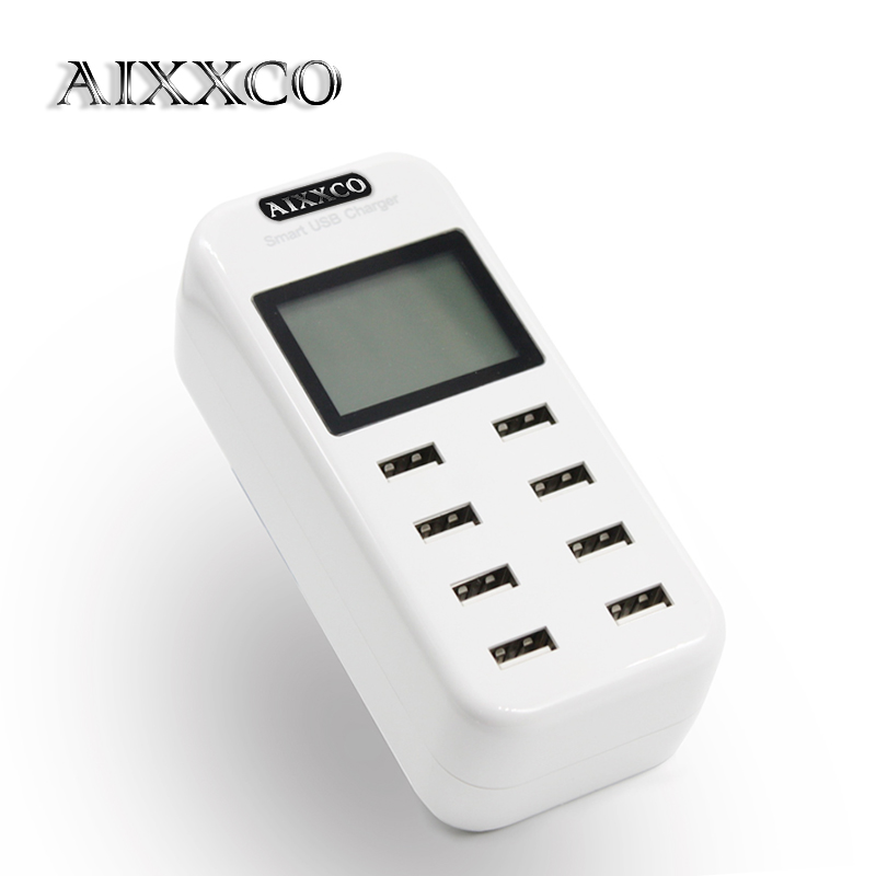 AIXXCO Smart 8A USB charger with LCD Diss