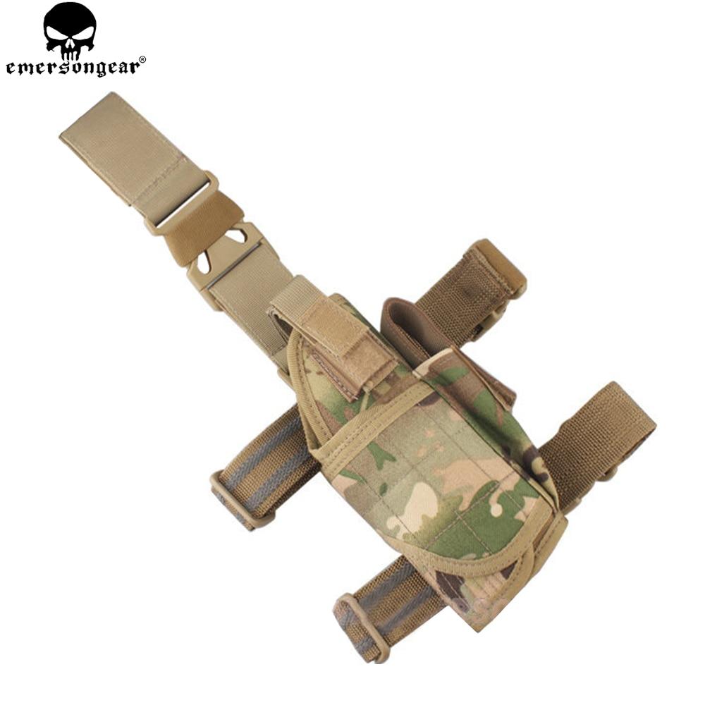 EMERSONGEAR Jambe de Baisse Étui Tactique Chasse Main Droite Pistolet Étui AdjustableThigh Dureté Pistol Holster Multicam EM6204