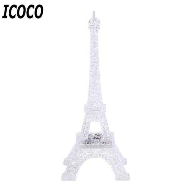ICOCO 1 Uds 7 cambio de Color Torre Eiffel LED luz de noche mesa de escritorio romántico estado de ánimo lámpara de mesa decoración de dormitorio regalo romático