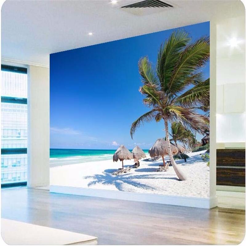 Beibehang foto wallpaper 3d pittura hd mare camera da letto mural ...